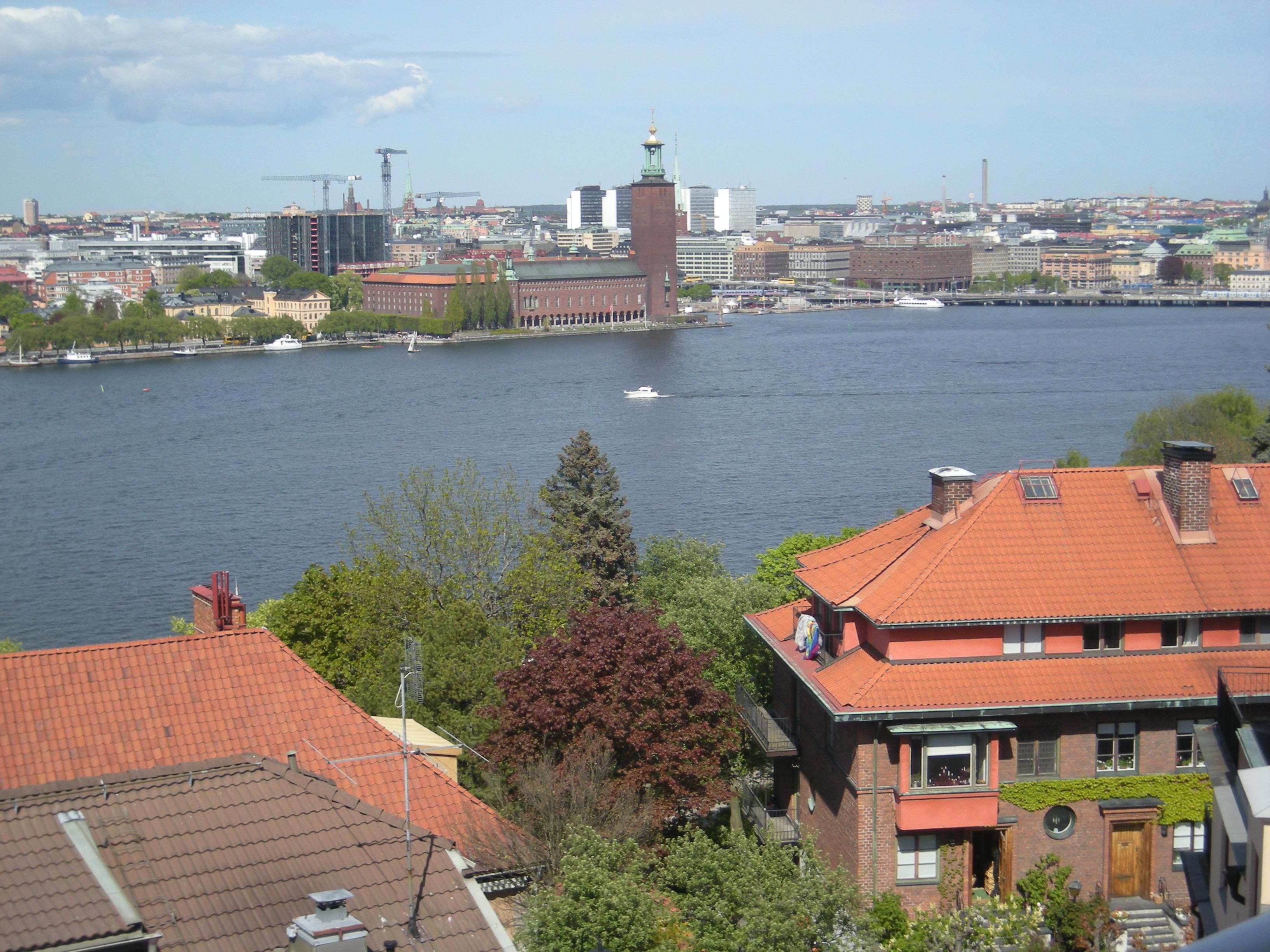 Utsikt från Elins lägenhet